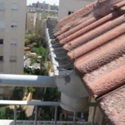 סליל קפיצי להרחקת יונים על גג